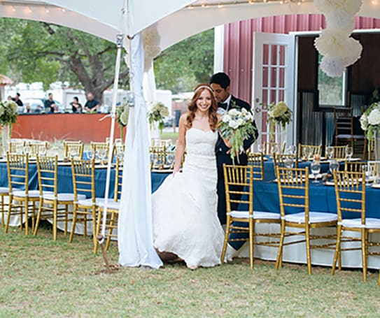 chair and linen rentals Austin